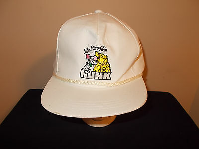 VTG-1990s Incredible Hunk of Cheese Mouse rope style snapback hat sku23