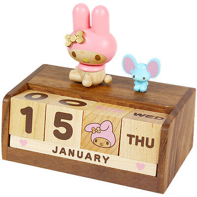 My melody Wood Desktop Calendar SANRIO from Japan NEW!