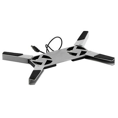 USB Foldable Folding Cool Cooler Cooling Fan Pad  2 Fan for Laptop Notebook XGT