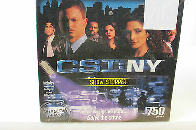 CSI NY SHOW STOPPER MYSTERY PUZZLE 750 PIECE NEW IN SEALED BOX CBS TV SHOW