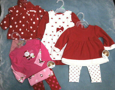 Child of Mine Carters - Girls Christmas Holiday Outfits Dress Bodysuit You Pick