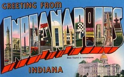 Indianapolis In. Big Letter Card  PC