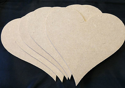 Hanging Hearts Heart inside Heart 4mm thick MDF ~ Pack of 5