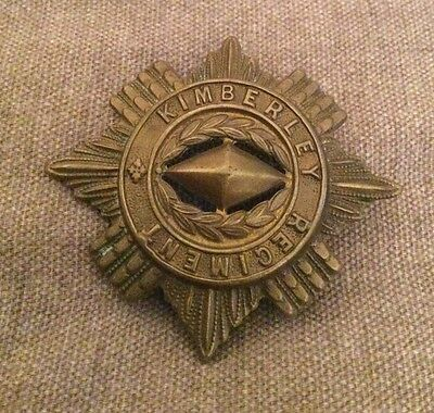 Stunning Vintage Kimberley Rifles South African Cap Badge C.Ww1 In Nice Cond