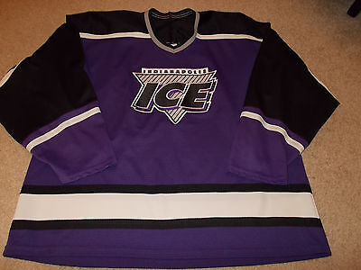 VTG-1990s Indianapolis Ice Bauer IHL Defunct Hockey Jersey 0db1d0742