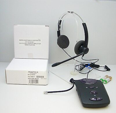 Plantronics SP12-C Binaural Headset + CA-910 Amplifier for Call Centre Telephone