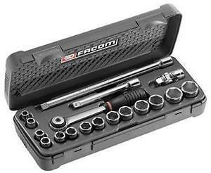 Facom Tools 3/8 Drive 8Mm - 22Mm Metric Socket Ratchet & Accessory Set
