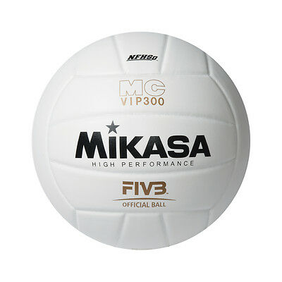 Mikasa Vip300 Volleyball =New= High Performance Composite Fivb Game Ball White