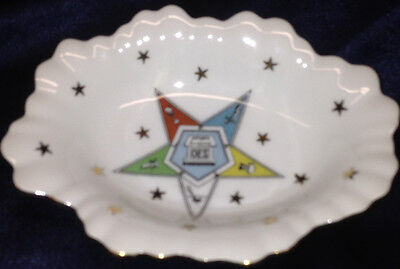 "LEFTON OES ORDER OF THE EASTERN STAR OVAL DISH CANDY MINT NUT TRAY 6.5"" BY 4.75"""