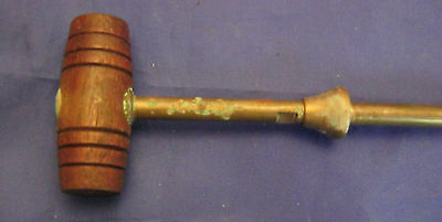 Luger 1920's Carbine or long Barrel Brass Cleaning Rod with Brass Stop & Wood