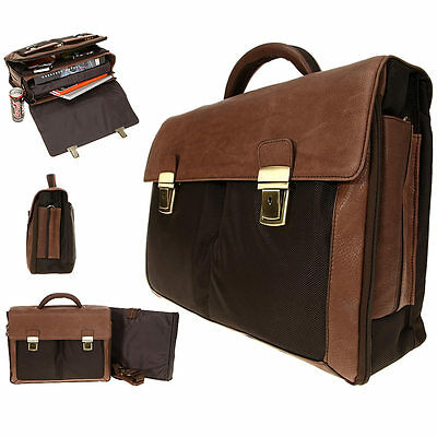Aktentasche DERMATA Business Leder Tasche Notebooktasche Ledertasche 2827 BRAUN
