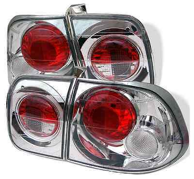 SPYDER ALT YD HC96 4D C Pair Chrome Euro Style Tail Lights for 96-98 Civic 4Dr