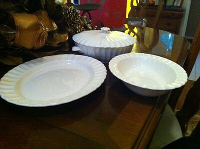 Three Spode Chelsea Wicker Serving Dishes