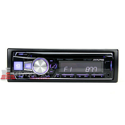 ALPINE® CDE-153BT In-Dash Single Din Bluetooth Car Stereo Receiver with Siri New