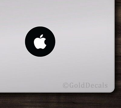 SMALL APPLE - Mac Apple Logo Cover Laptop Vinyl Decal Sticker Macbook Unique