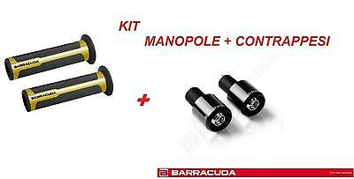 BARRACUDA KIT MANOPOLE RACING ORO + CONTRAPPESI NERO per YAMAHA MT-07