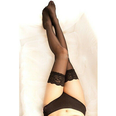 Fashion&Sexy Women Lace Top Stay Up Thigh High Stockings Nightclubs Pantyhose