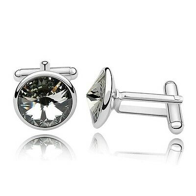 Top Quality Twinkle Mens Cufflinks Made With Swarovski Crystal 3 Colours