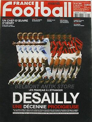 France Football n°3006 - 2003 - Desailly - Evra - Pavon - Henry - Leboeuf -