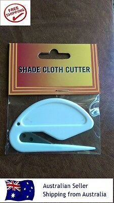 SHADECLOTH CUTTER Easy to Use Steel Blade with Plastic Cover Handle (Disposable)