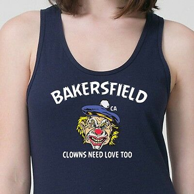 Bakersfield Ca Clowns Need Love Too T-shirt Scary Circus Costume Adult Tank Top
