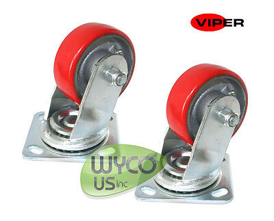 "Two Oem 4"" Caster Wheels, Viper Fang 24T, 26T, 28T Scrubbers, Vf83111, Vf83111-1"