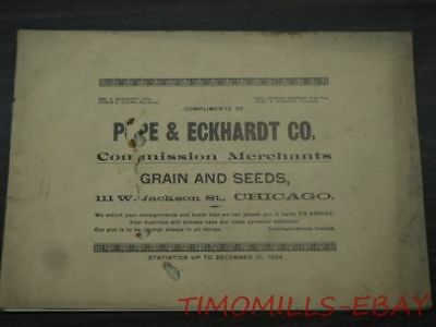 1924 Pope & Eckhardt Chicago Commodity Trader Advertising Statistical Manual CBT