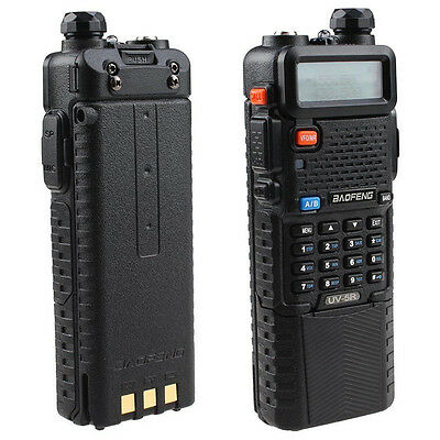 Baofeng Dual Band UV-5R VHF/UHF Radio 3800mAh Battery/Clip/PTT Earpiece AU Stock