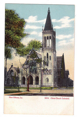 Louisiana postcard New Orleans Christ Church Cathedral