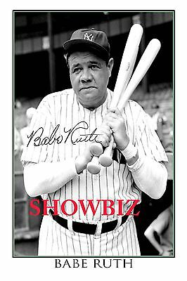 Babe Ruth Rare Autographed Signed Poster Print  - Great Baseball Memorabilia
