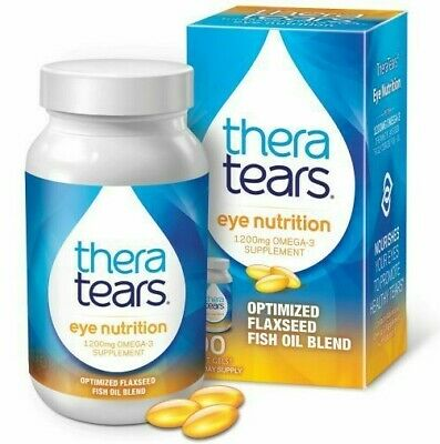 3 X Thera Tears Nutrition Omega 3 and Vit E Dry Eyes Theratears 1200mg Softgels