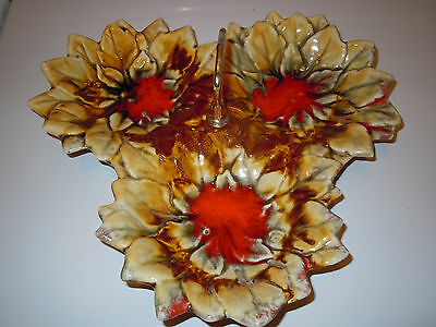 VINTAGE MARCIA of CALIFORNIA POTTERY USA SERVING TRAY BOWL DISH MID CENTURY NICE