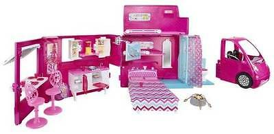 NEW Barbie Doll Sisters FAB Life in The Pretty Dreamhouse Glam Camper Pink RV