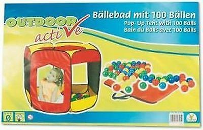 The Toy Company ball pit tent active with 100 balls TTC Outdoor Pop-Up Tent NEW