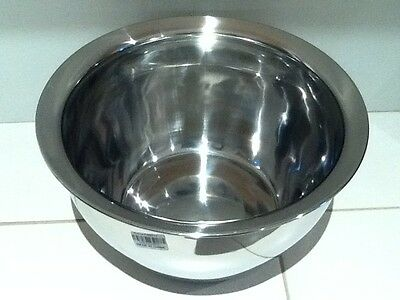 2x Large Stainless Steel Deep Mixing Bowl 28 cm
