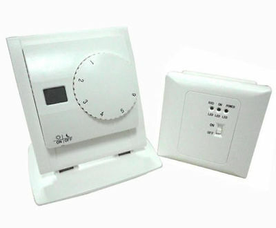 Heating & Cooling Wireless Thermostat Temperature Controller with Receiver Easy