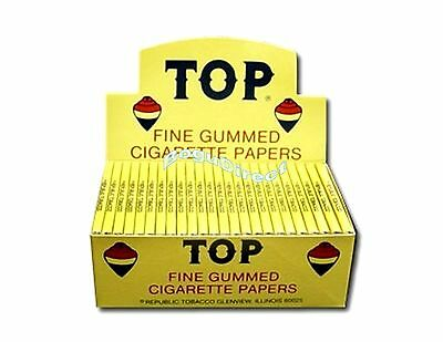 Top Fine Gummed Cigarette Rolling Papers Box / 24 Booklets Paper