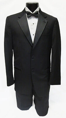 54 Long New Mens Designer Calvin Klein 2 Button Wool Tuxedo Jacket Big & Tall
