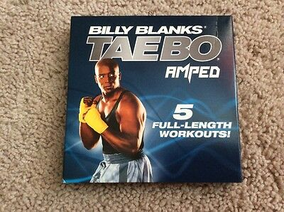 BILLY BLANKS TAEBO AMPED 5 FULL LENGTH WORKOUTS - DVD Exercise & Fitness
