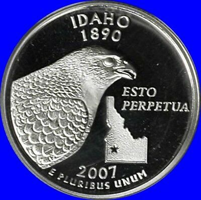 2007-S Idaho Silver Proof State Quarter US Coin ~ Cameo