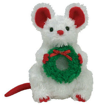 TY Jingle Beanie Baby - GARLANDS the Mouse (4 inch) - MWMT's