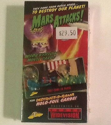 Topps Mars Attacks Widevision Movie Cards Set Sealed New