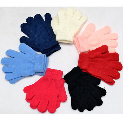 Babys Girls Boys Kids Childrens Winter Magic Mittens Fingers Gloves Warm Strechy
