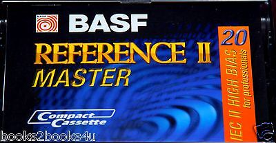 BASF REFERENCE MASTER 20 HIGH BIAS SEALED BLANK AUDIO CASSETTE TYPE II TAPE