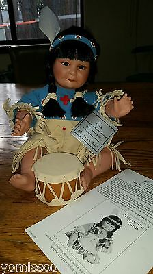 "Vintage ""Song of the Sioux"" Doll:New/Original Box Danbury Mint:Artafects Present"
