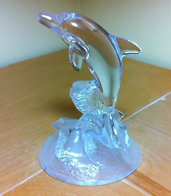 Cris D'arques Durand Animal Boutique Clear Glass Dolphin Lead Crystal