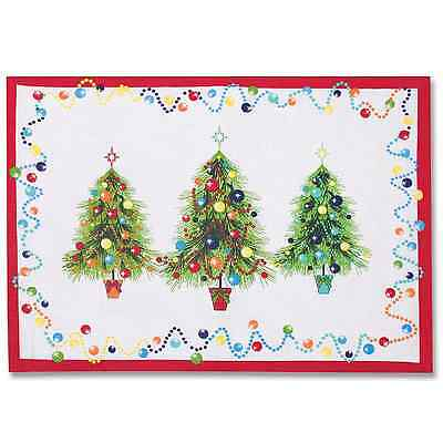 Fiesta Holiday Gatherings Christmas Tree Placemats New Nwt