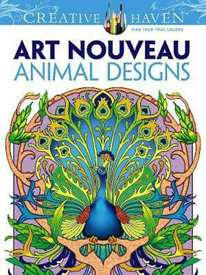 Creative Haven Art Nouveau Animal Designs Coloring Book by Marty Noble (English)