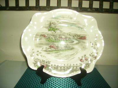 """JOHNSON BROS.ENGLAND~""""THE ROAD HOME""""OVAL PLATTER"""