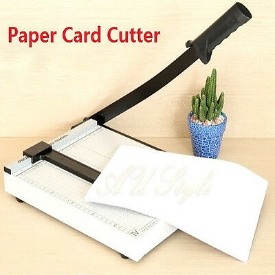 OZ Metal Paper Cutter Size A4 To B7 Guillotine Page Trimmer 12 Sheets